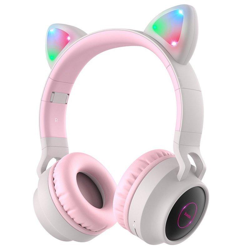 HOCO słuchawki bluetooth nagłowne W27 CAT EAR szary