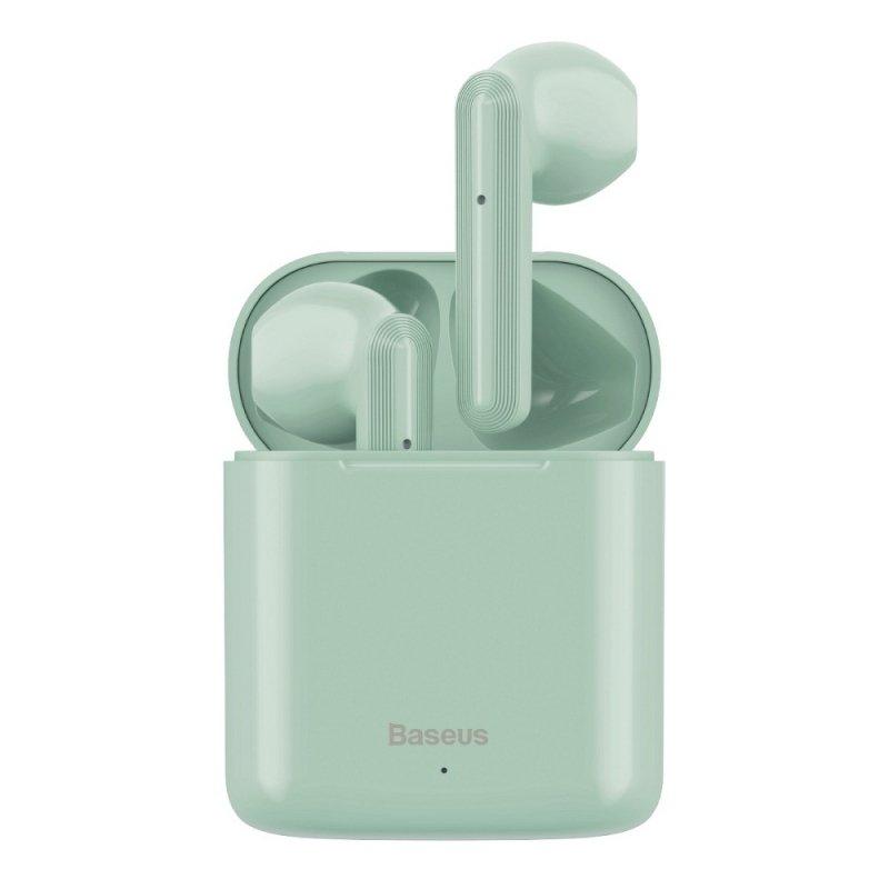 BASEUS zestaw słuchawkowy / słuchawki bluetooth TWS Encok True W09 zielone NGW09-06