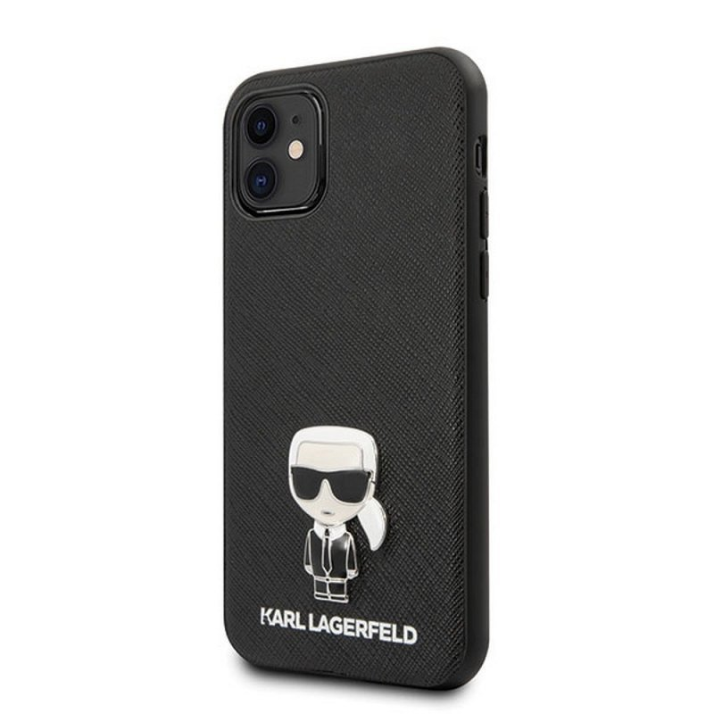 Oryginalne Etui KARL LAGERFELD Hardcase KLHCP12SIKMSBK do iPhone 12 MINI czarny