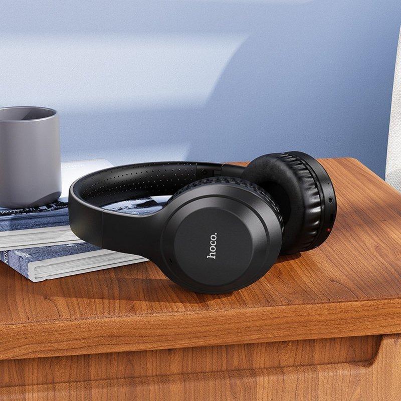 HOCO słuchawki bluetooth nagłowne FUN move W30 czarne