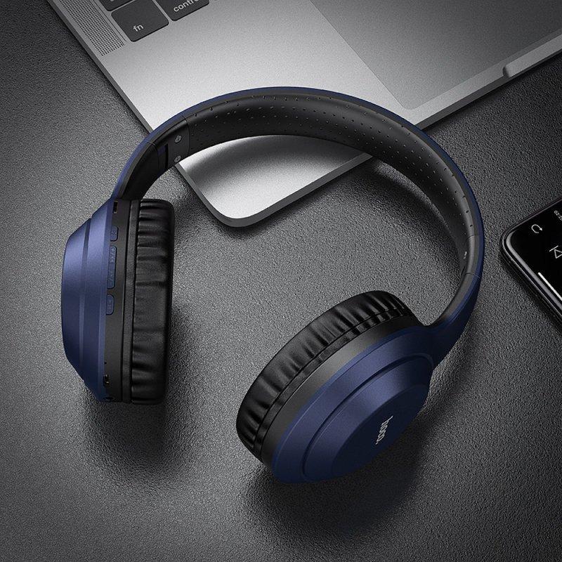 HOCO słuchawki bluetooth nagłowne FUN move W30 niebieskie
