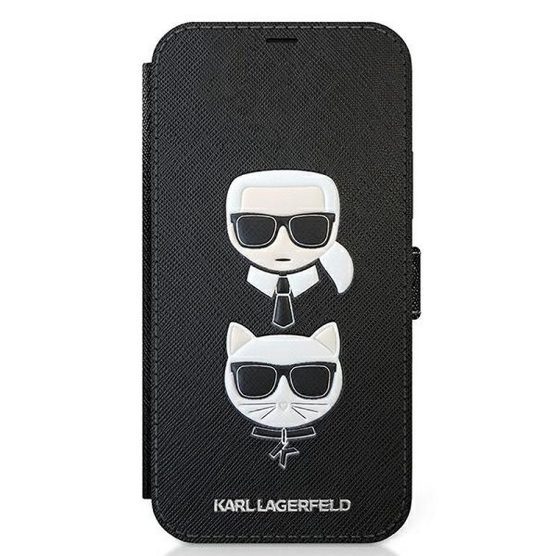 Oryginalne Etui KARL LAGERFELD Book KLFLBKP12MSAKICKCBK do iPhone 12 Pro czarny