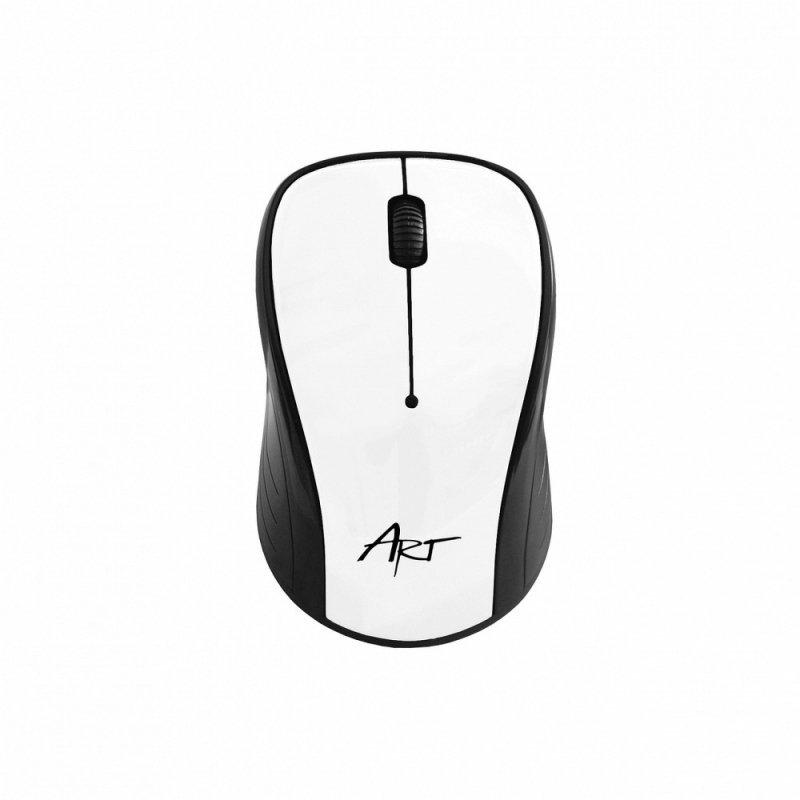Mysz / Myszka  ART  bezprzewodowa-optyczna USB AM-92 biała