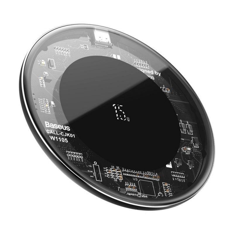 BASEUS ładowarka indukcyjna Simple 15W transparent WXJK-BA02