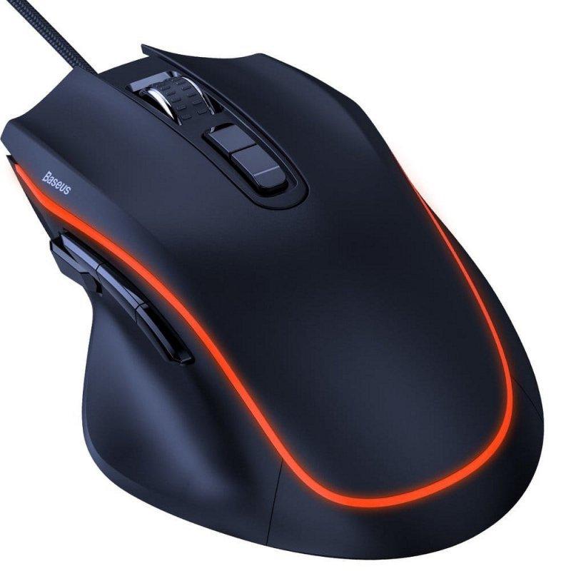 BASEUS mysz / myszka dla graczy GAMO 9 Programmable Buttons czarna GMGM01-01