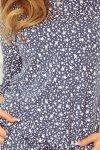 13-83 Sukienka sportowa - jeans + drobne kwiaty
