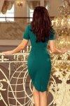 150-4 Sukienka DOROTA - elegancka - ZIELONA