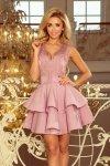 200-10 CHARLOTTE - ekskluzywna sukienka z koronkowym dekoltem - LILA