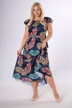 sukienka maxi z falbankami