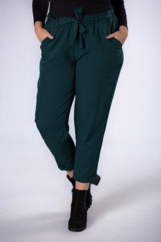 eleganckie spodnie z talią typu paper bag