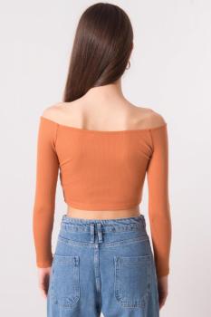 Bluzka-15900-ciemny pomarańczowy