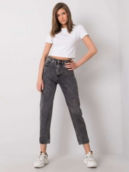 Spodnie jeans-334-SP-077.58P-ciemny szary