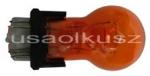 Pomarańczowa dwuwłóknowa żarówka 3157 12V P27/7W amber - trzonek W2,5x16q