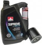 Filtr + olej SUPREME 10W30 Chrysler 300C -2008