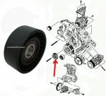 Rolka NAPINACZA paska micro Chrysler Voyager 2,5CRD 2,8 CRD