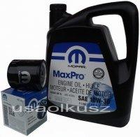 Oryginalny filtr oleju oraz olej MOPAR 10W30 Chrysler PT Cruiser