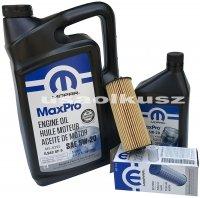 Olej MOPAR 5W20 oraz oryginalny filtr Chrysler 200 3,6 V6 -2013