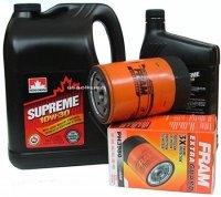 Filtr oleju oraz olej SUPREME 10W30 Oldsmobile Silhouette 3,1 V6