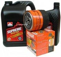 Filtr oleju FRAM PH16 oraz olej SUPREME 10W30 Dodge Shadow