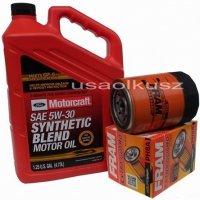 Oryginalny syntetyczny olej silnikowy Motorcraft 5W30 oraz filtr Mercury Mountaineer 4,0 -2001