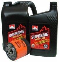 Filtr oleju oraz olej SUPREME 10W30 Jeep Wrangler 2,4 16V