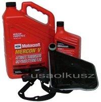 Filtr oraz syntetyczny olej Motorcraft MERCON V automatycznej skrzyni biegów Ford Taurus 1990-2007