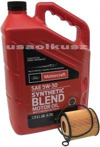 Wkład filtra oraz olej silnika Motorcraft 5W30 Ford Escape 2,3 16V