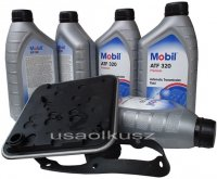 Filtr oraz olej skrzyni 4SPD Mobil ATF320 Chrysler Voyager Town Country
