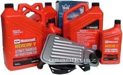 Filtr + olej Motorcraft Mercon V automatycznej skrzyni biegów Ford F150 - 350 4x4