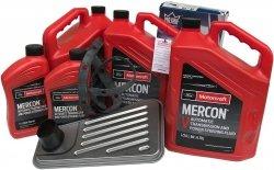 Filtr + olej Motorcraft Mercon V skrzyni biegów 4R100 Ford F-350 F-450 F-550 AWD -2007