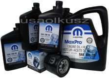 Oryginalny filtr oraz olej MOPAR 5W20 Chrysler Aspen 5,7 V8 2008-