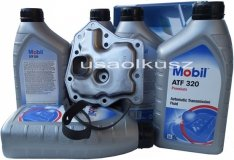 Filtr oraz olej Mobil ATF-320 automatycznej skrzyni biegów Mercury Villager -1996