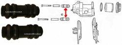 Osłonki prowadnic przedniego zacisku Jeep Wrangler -2006