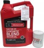 Filtr + olej silnikowy Motorcraft 5W20 SYNTHETIC BLEND Ford Freestar
