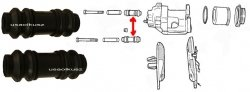 Osłonki prowadnic zacisku Dodge Daytona