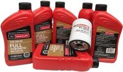 Oryginalny filtr oraz olej silnikowy Motorcraft 5W20 Full Synthetic Lincoln MKT 3,7 V6
