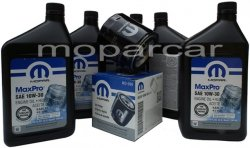 Filtr oraz olej MOPAR 10W30 Dodge Magnum V6
