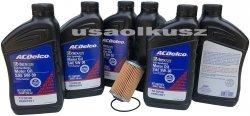 Filtr olej silnikowy 5W-30 Dexos2 Full Synthetic ACDelco Cadillac CTS V6