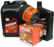 Filtr oleju FRAM PH16 oraz olej SUPREME 10W30 Dodge Avenger V6
