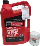 Filtr + olej silnikowy Motorcraft 5W20 SYNTHETIC BLEND Ford Escape 1,5 EcoBoost