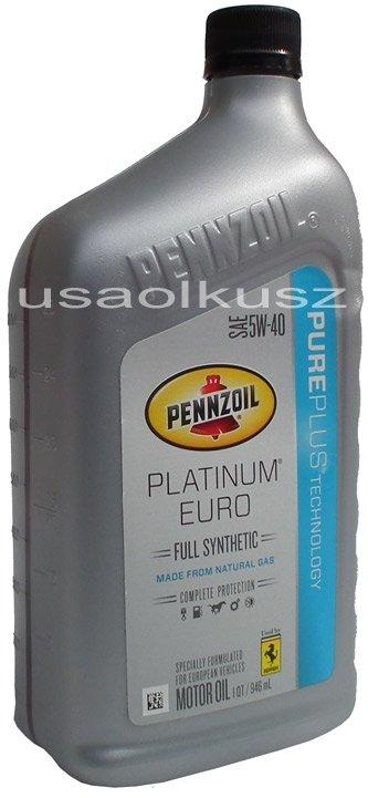 Olej PENNZOIL PLATINUM 5W40 MS-10850