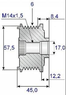 Sprzęgło jednokierunkowe alternatora Jeep Wrangler JK 2,8 CRD