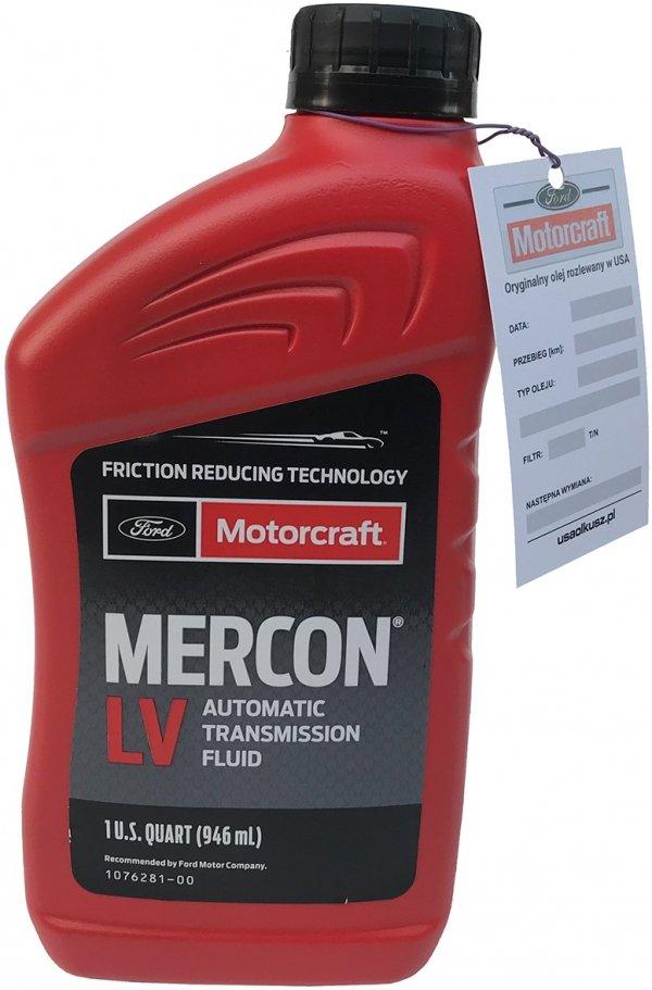 Olej automatycznej skrzyni biegów Motorcraft MERCON LV 1l Ford
