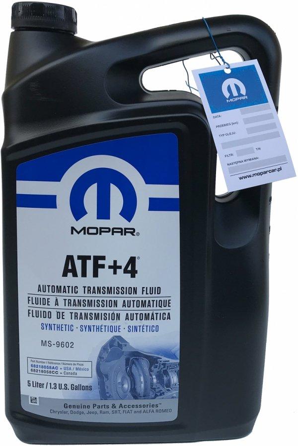 Olej automatycznej skrzyni biegów MOPAR ATF+4 MS-9602 5,0l Jeep