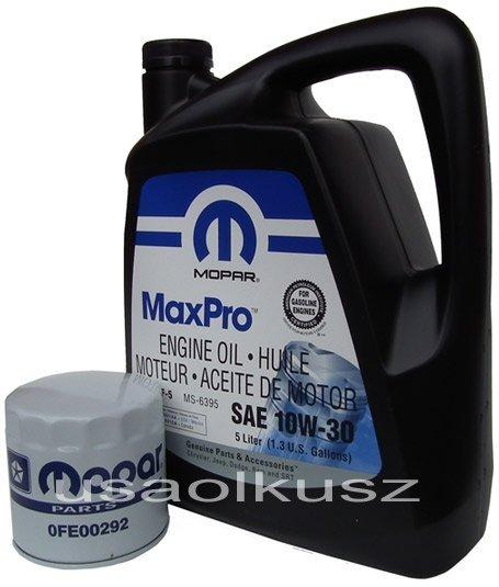 Filtr oleju + olej MOPAR 10W30 Dodge Shadow