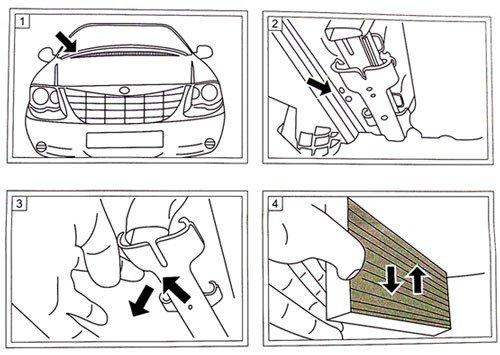 Filtr kabinowy przeciwpyłkowy Dodge Caravan 2001-2007