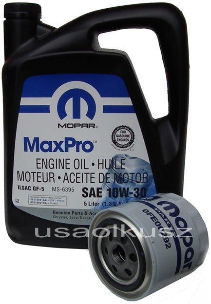 Filtr oleju + olej MOPAR 10W30 Dodge Dakota