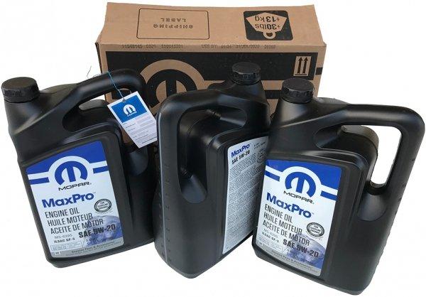 Karton oleju silnikowego 5W20 MOPAR GF-5 MS-6395 15L