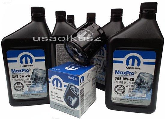 Olej MOPAR 0W20 oraz oryginalny filtr Dodge Dart 2,4