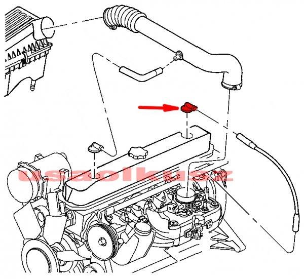 Zawór PCV tylny króciec odpowietrznik MOPAR Jeep Grand Cherokee 4,0 -1999